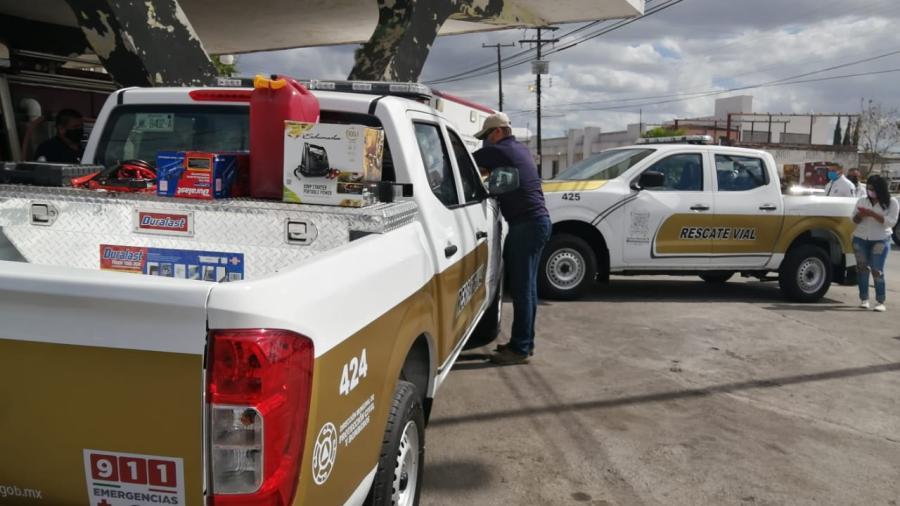 """Entregan equipo y patrullas para el programa """"Rescate Vial"""" en Matamoros"""