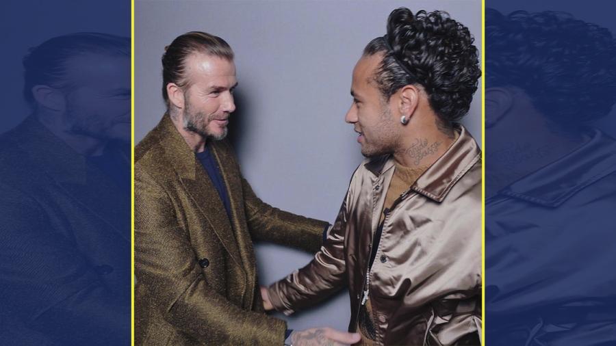 Duelo de peinados entre Neymar y Beckham