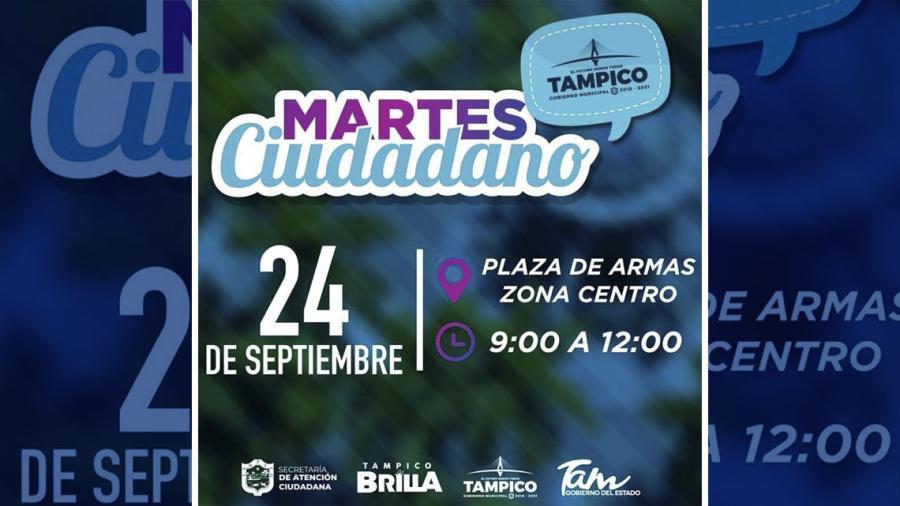 """Tampico se prepara el """"Martes Ciudadano"""""""