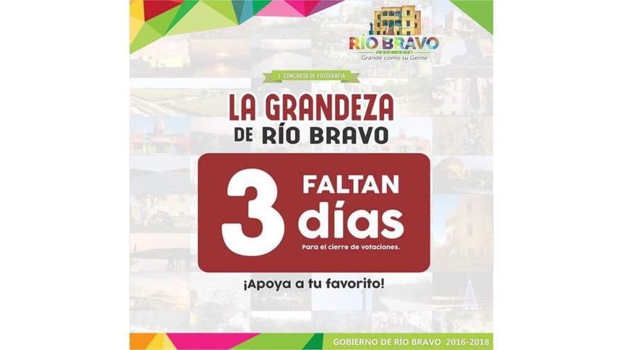 """Últimos días para votaciones del concurso """"La Grandeza de Río Bravo"""""""