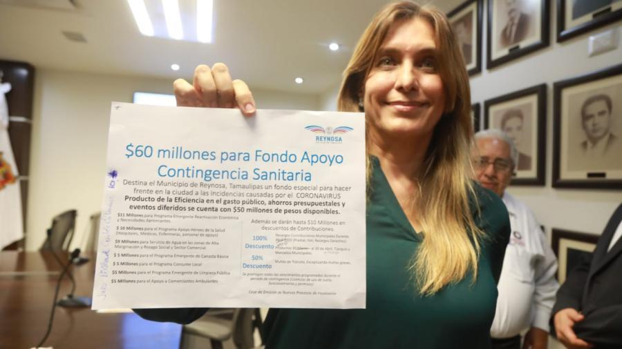 Los ciudadanos no están solos: Alcaldesa de Reynosa