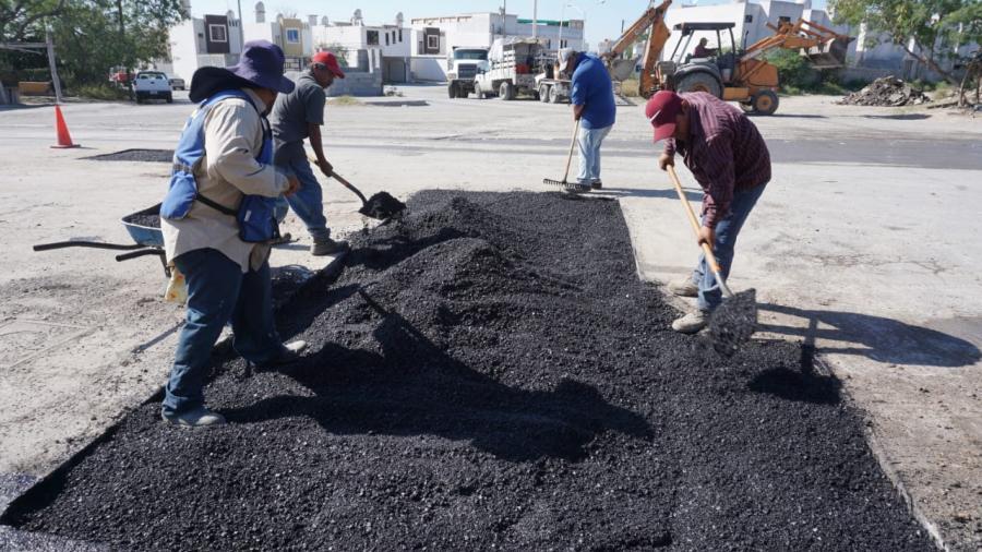 Rehabilita Gobierno de Reynosa cruce en calle Jaime Nunó