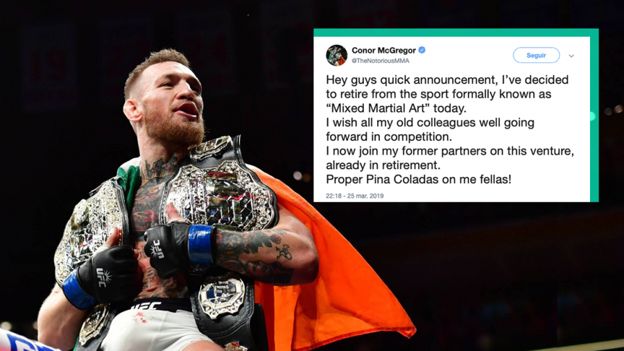 Anuncia Conor McGregor su retiro de la MMA