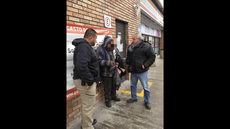 Auxilia PCyB a indigentes ante onda fría