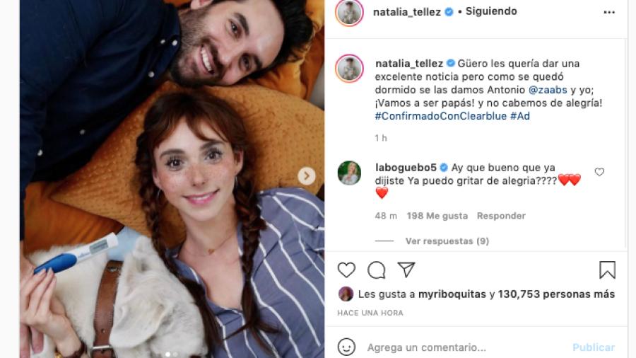 Natalia Téllez anuncia embarazo