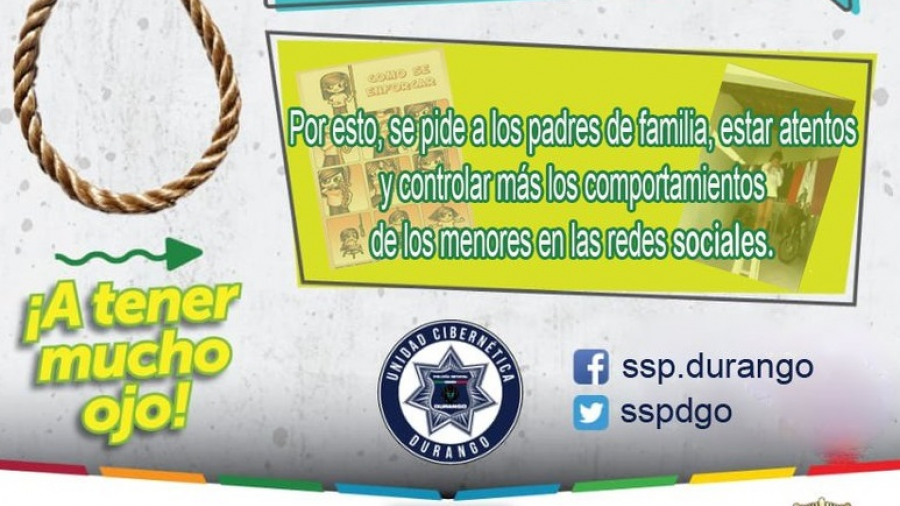 Autoridades alertan a padres de familia sobre juegos de las redes sociales