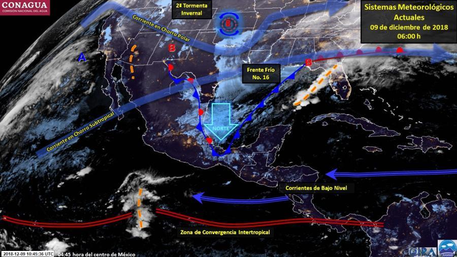 Tormentas puntuales en oriente y sureste del país
