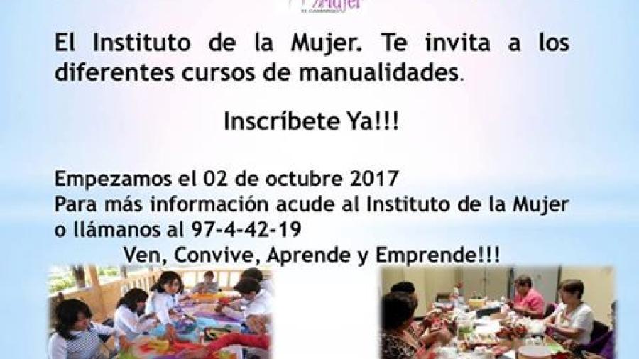 Invita IMM a cursos de manualidades