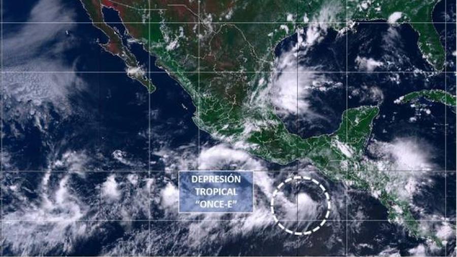 Surge depresión tropical Once-E frente a costas de Oaxaca