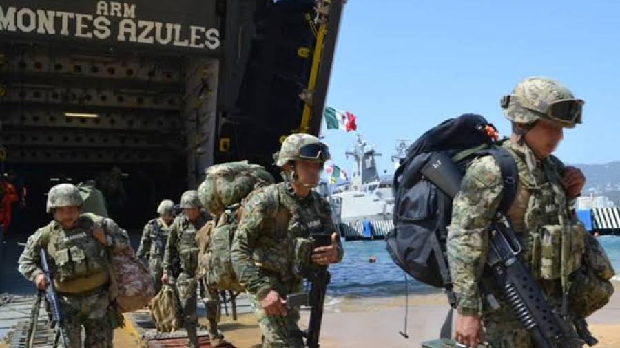 Arriban más de 150 marinos a Acapulco para reforzar seguridad