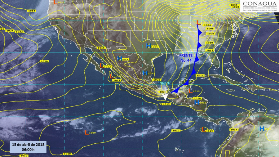Potencial de tormentas en sureste del país