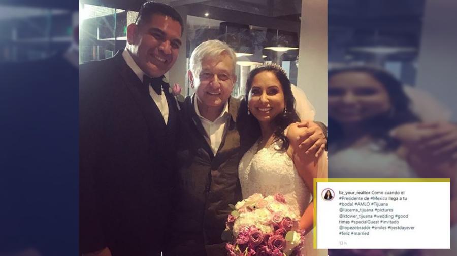 AMLO se cuela en una boda en Tijuana