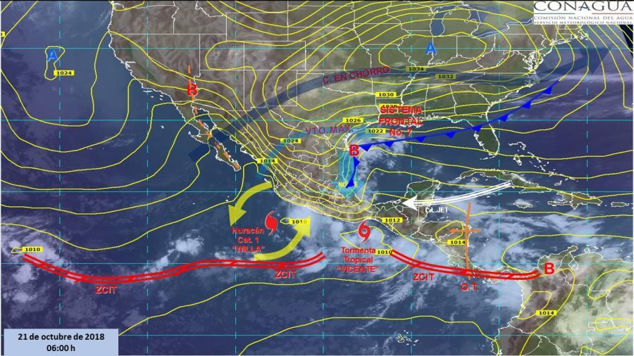Fuerte temporal de lluvias en sur y occidente del país