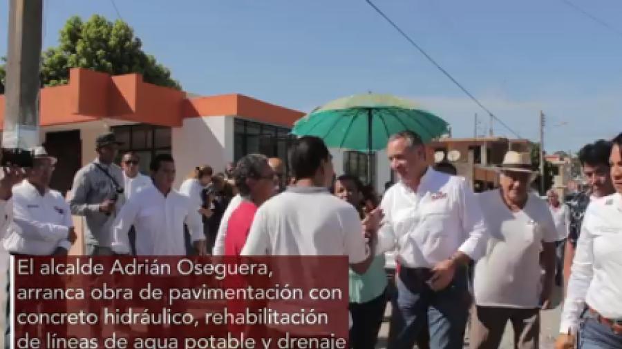 Continúan obras pavimentación en Madero