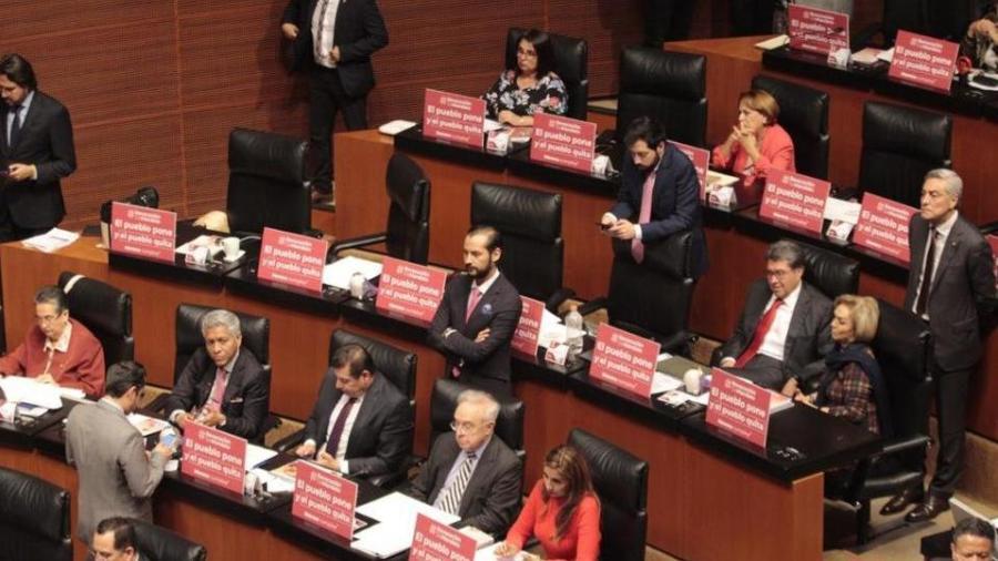 Senado aprueba en lo general dictamen de revocación de mandato