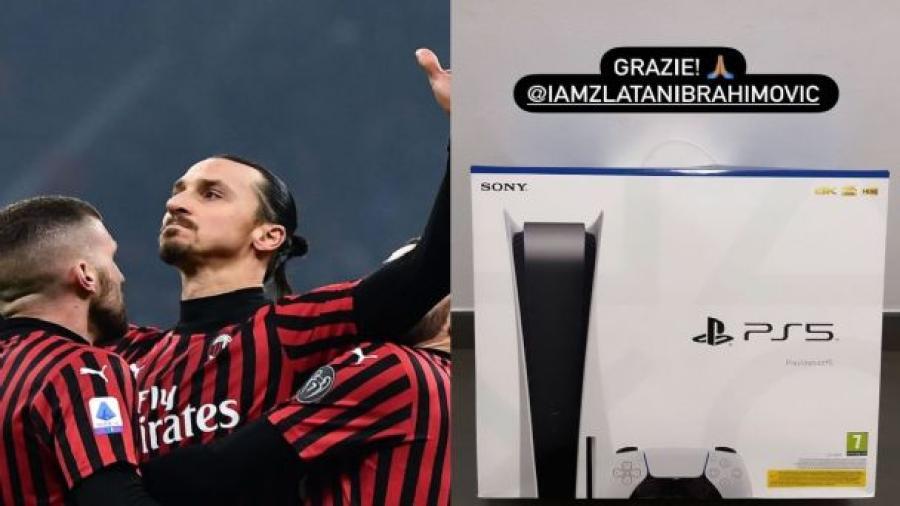 El detalle de Zlatan con sus compañeros del Milan