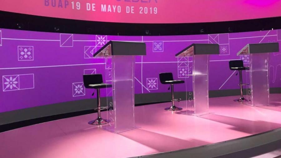 Todo listo para el debate a la gobernatura de Puebla