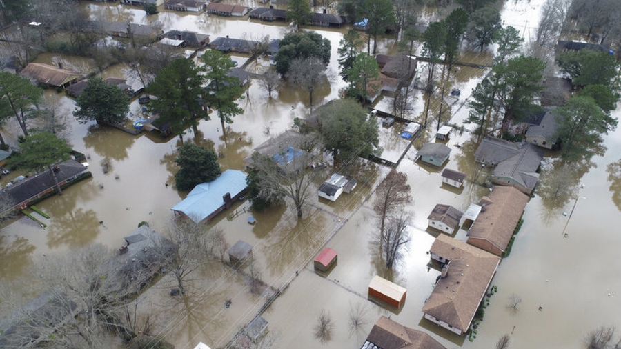 Inundaciones de hasta 11 metros de altura en Mississippi