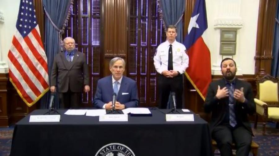 Gobernador de Texas anuncia nuevas medidas ante covid-19