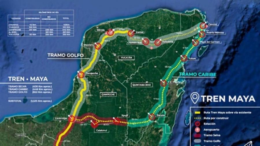 Inversión de 6 mmdp para el Tren Maya