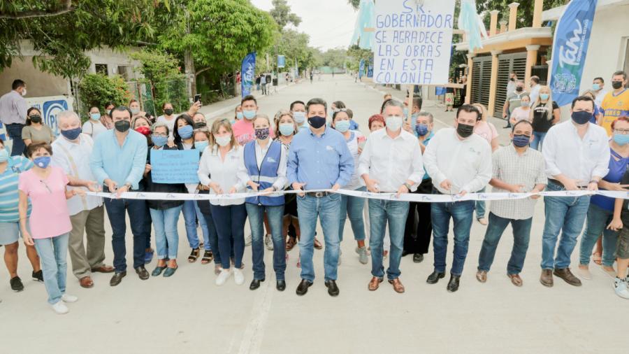 Inaugura Cabeza de Vaca pavimentaciones en Tampico