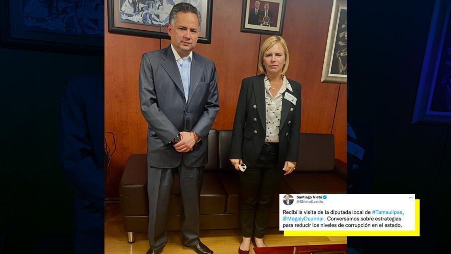 Magaly Deandar se reúne con Santiago Nieto, titular de la UIF