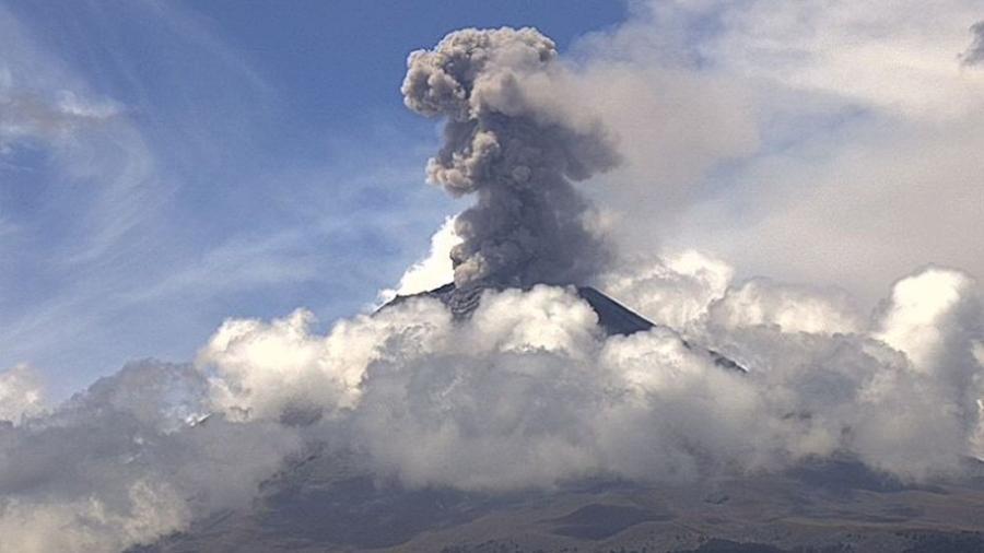 Alerta amarilla por actividad del Popocatépetl
