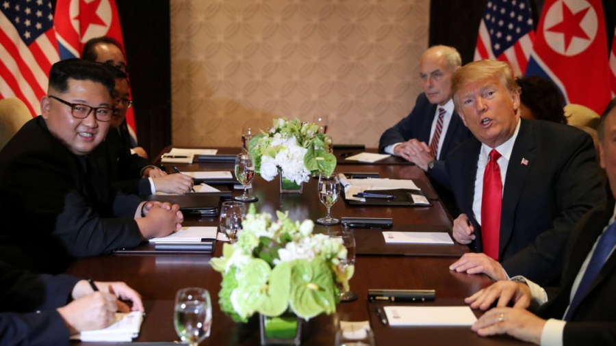 """Asegura Trump una """"muy buena reunión"""" con Kim"""