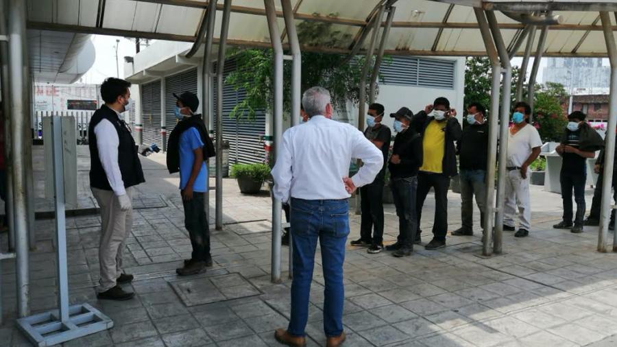 Fortalece Tamaulipas filtros sanitarios contra COVID-19 en módulos de recepción de repatriados