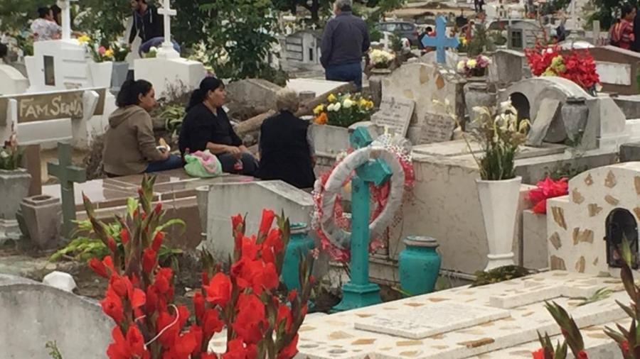 Saldo blanco en cementerios en la celebración de los fieles difuntos