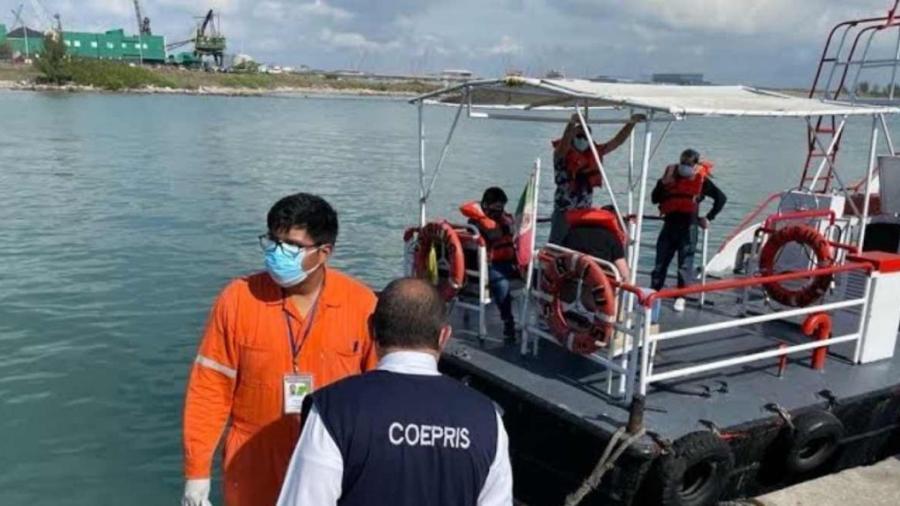 Llega al Puerto de Altamira, buque con enfermos de Covid-19