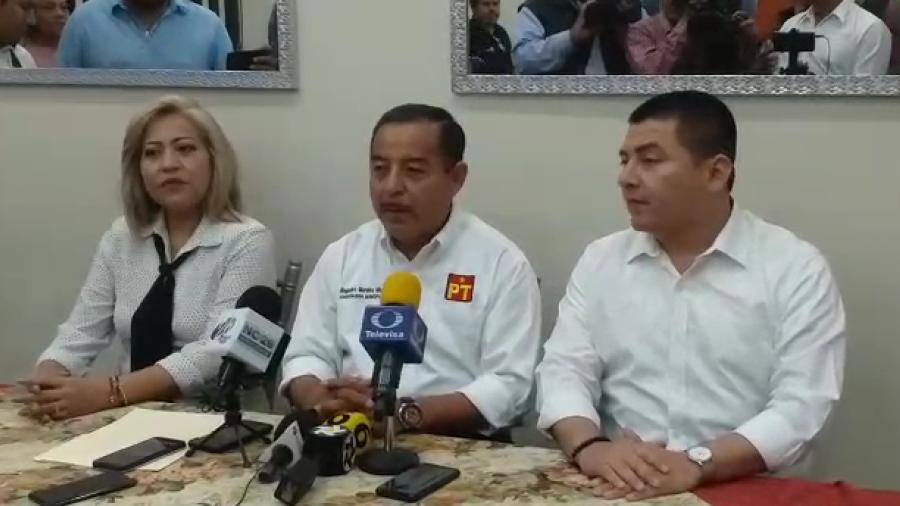 PT presenta a sus candidatos, Azael Portillo por Madero y Elena Cuervo por Altamira
