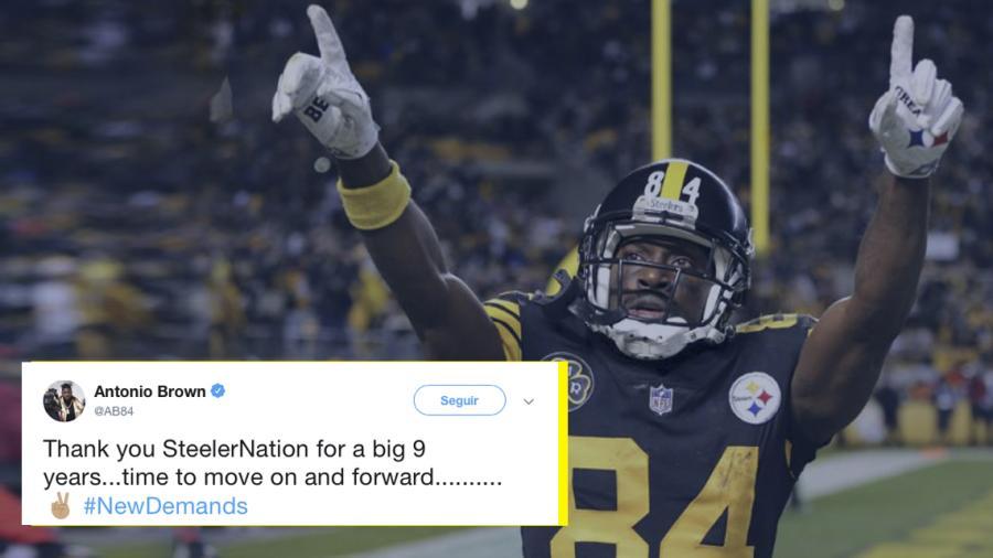 Tras 9 años, Antonio Brown deja a los Steelers