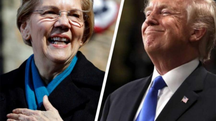 Trump se burla de Warren por anuncio de candidatura a la presidencia