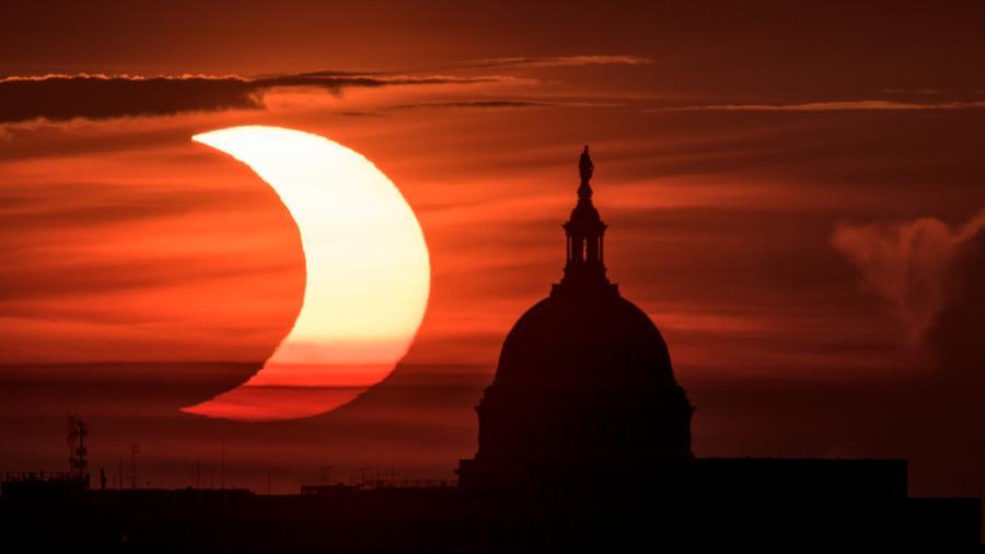 Así se vivió el primer eclipse solar anular del 2021