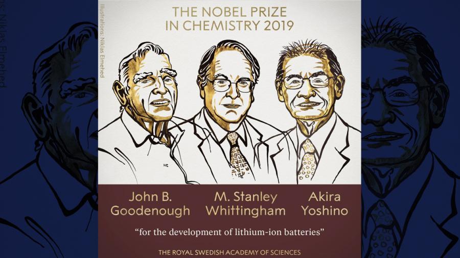 Los desarrollares de baterías de iones de litio ganan el Nobel de Química