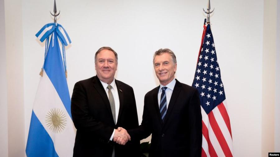 Mike Pompeo y Mauricio Macri se reúnen en Argentina
