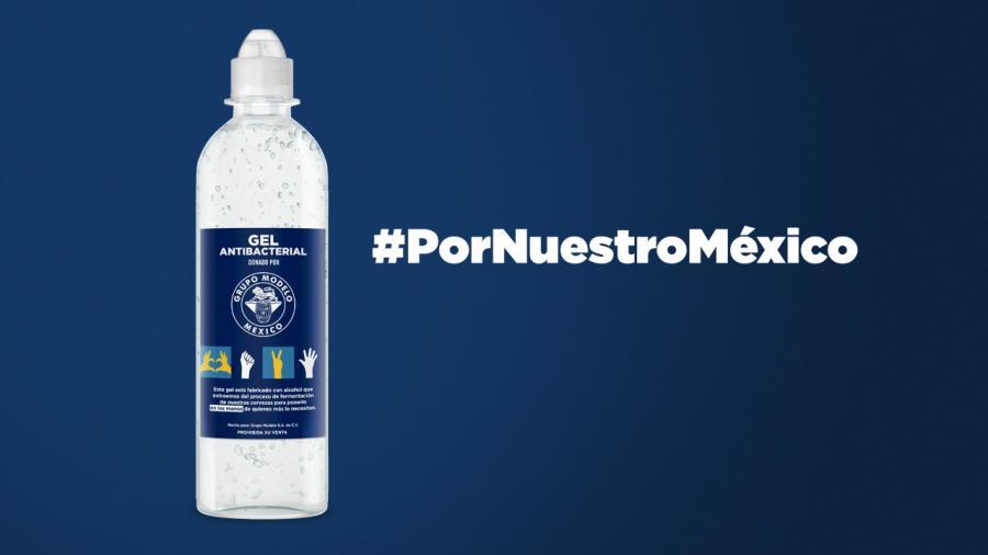¡#PorNuestroMéxico! Grupo Modelo dona 300 botes de gel antibacterial