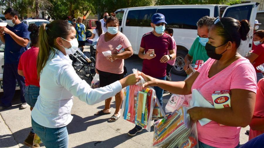 """""""DIF Reynosa en tu Casa"""" visitó a las familias de las Colonias La Laguna y Rincón de las Flores"""