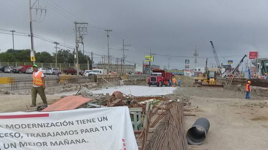 Paralizados los trabajos del paso inferior vehicular San Pedro por problema de pago a trabajadores