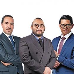 Arturo Rodríguez, Hiroshi Takahashi y Roberto Aguilar